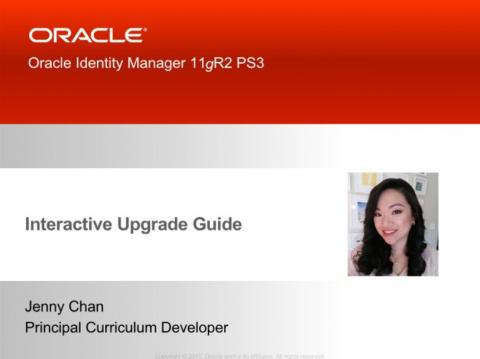 Интерактивный курс Oracle Identity Manager Interactive Upgrade Guide